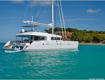 Lagoon 560 mit Skipper Bacchus